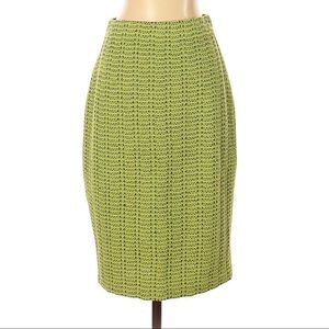 St. John Collection Green Tweed Skirt